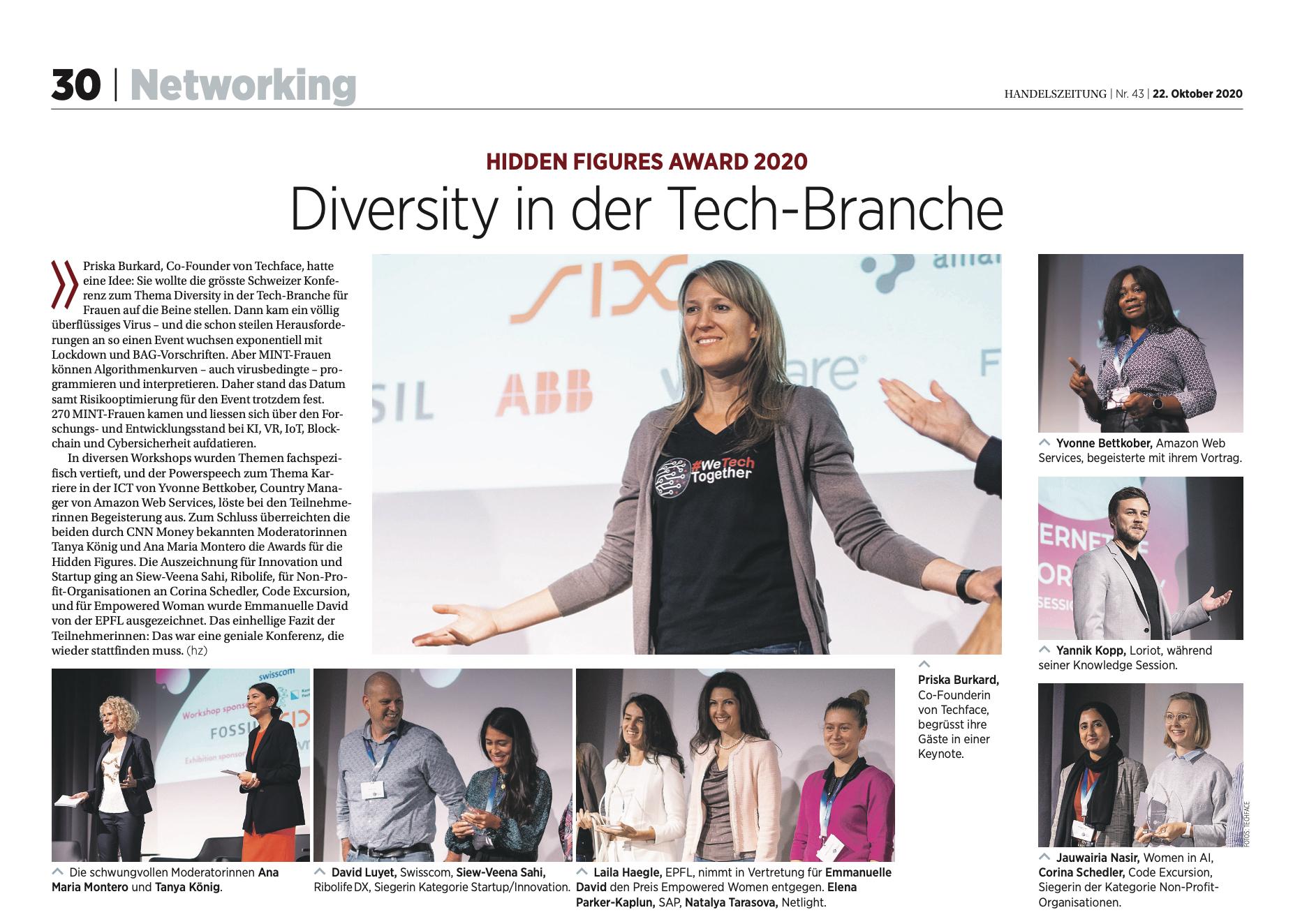 #wetechtogether article in the Handelszeitung