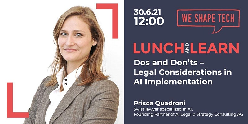 We Shape Tech Lunch and Learn Legal AI